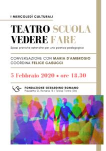 Teatro Scuola Vedere Fare - 5 febbraio 2020 - EVEnto FGR